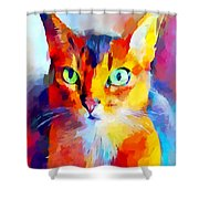 Abyssinian Cat Shower Curtain