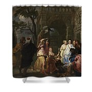 Achilles And The Daughters Of Archimedes  Shower Curtain