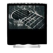 Acoustic Guitar Musician Player Metal Rock Music Black Shower Curtain