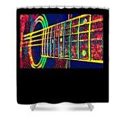 Acoustic Guitar Musician Player Metal Rock Music Color Shower Curtain