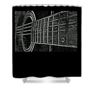 Acoustic Guitar Musician Player Metal Rock Music Strings Shower Curtain