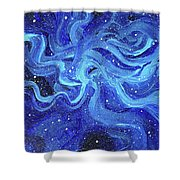 Acrylic Galaxy Painting Shower Curtain