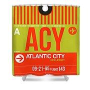 Acy Atlantic City Luggage Tag I Shower Curtain