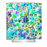 Adventures On Icon Reef Shower Curtain