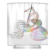 Aerial Hoop Dancing Ribbons For Her Hair Png Shower Curtain