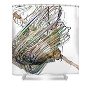 Aerial Hoop Dancing Whirlwind Of Hair Png Shower Curtain