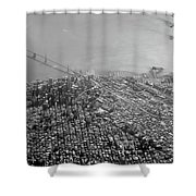 Aerial View Of Downtown San Francisco From The Air Shower Curtain