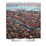 Aerial View Of Grand Canal, Venice, Italy Shower Curtain