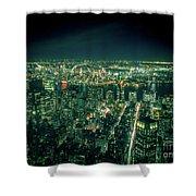 Aerial View Of Manhattan Skyline  Shower Curtain