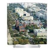Aerial View Of Museums On The South Side Of The National Mall In Shower Curtain