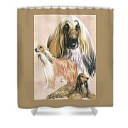 Afghan Hound Alteration Shower Curtain by Barbara Keith