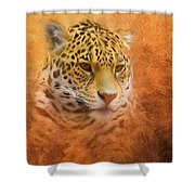 African Leopard Shower Curtain