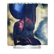 Afrocelestial Shower Curtain