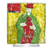 After Billy Childish Painting Otd 23 Shower Curtain