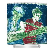 After Billy Childish Painting Otd 33 Shower Curtain