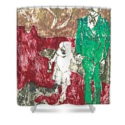 After Billy Childish Painting Otd 43 Shower Curtain