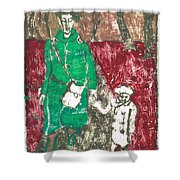 After Billy Childish Painting Otd 45 Shower Curtain