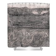 After Billy Childish Pencil Drawing 18 Shower Curtain