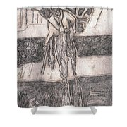 After Billy Childish Pencil Drawing 24 Shower Curtain
