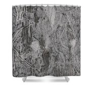 After Billy Childish Pencil Drawing 3 Shower Curtain