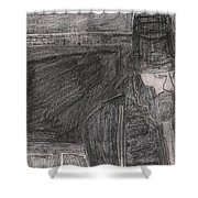 After Billy Childish Pencil Drawing 32 Shower Curtain