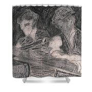 After Billy Childish Pencil Drawing 33 Shower Curtain