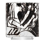 After Mikhail Larionov Black Oil Painting 1 Shower Curtain