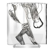 After Mikhail Larionov Pencil Drawing 12 Shower Curtain