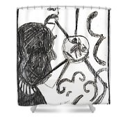 After Mikhail Larionov Pencil Drawing 13 Shower Curtain
