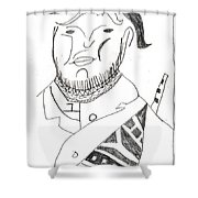After Mikhail Larionov Pencil Drawing 2 Shower Curtain