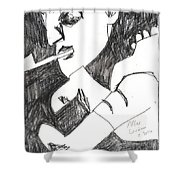 After Mikhail Larionov Pencil Drawing 4 Shower Curtain