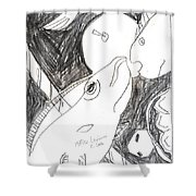 After Mikhail Larionov Pencil Drawing 6 Shower Curtain