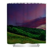 After The Storm Afterglow Shower Curtain