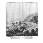 After The Tornado  Pavel Petrovich Svinin 1787 88-1839 Shower Curtain