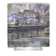 Afternoon At La Salle Park Shower Curtain