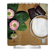 Afternoon Pick-me-up Shower Curtain