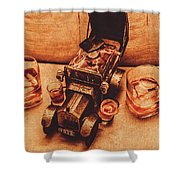Aged Since 1918 Shower Curtain