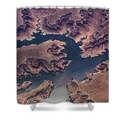 Air View Of Lake Powell Shower Curtain