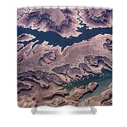 Air View Of The Colorado River Shower Curtain