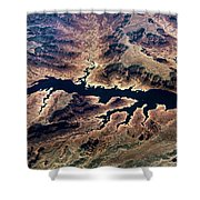 Air View Of The Grand Canyon Shower Curtain