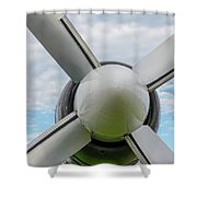 Aircraft Propellers. Shower Curtain by Anjo Ten Kate