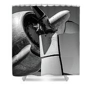 Airplane Propeller Shower Curtain