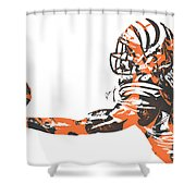 Aj Green Cincinnati Bengals Pixel Art 40 Shower Curtain
