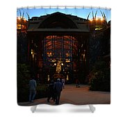 Ak Lodge Lobby Christmas Shower Curtain