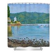 Akaroa Yacht Club Shower Curtain