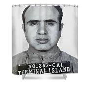 Al Capone Mugshot 1939 - T-shirt Shower Curtain