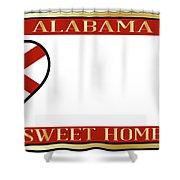Alabama State License Plate Shower Curtain