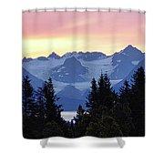 Alaska's Kenai Mountains At Dawn Shower Curtain
