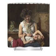 Alexei Harlamoff,  Portraif Of Sisters Shower Curtain