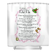 All I Learned From Peter Pan Shower Curtain